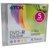 TDK 5 COLOUR DISC DVR-R