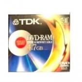 TDK DVD-RAM TYPE II / REWRITABLE 4.7GB