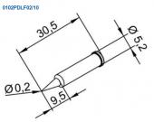 Μύτη κόλλησης  ERSA 0102PDLF02