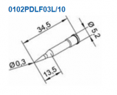Μύτη κόλλησης  ERSA 0102PDLF03L