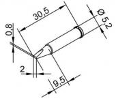 Μύτη κόλλησης  ERSA 0102CDLF20