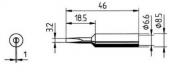Μύτη κόλλησης  ERSA 0832 ED/EDLF