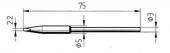 Μύτη κόλλησης ERSA 0212KDLF