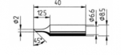 Μύτη κόλλησης  ERSA 0832 FDLF