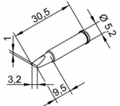 Μύτη κόλλησης  ERSA 0102CDLF32