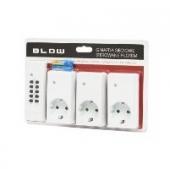 Πρίζες Ρεύματος με Τηλεκοντρόλ (3τμχ) BLOW 72-050
